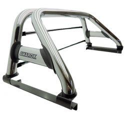 Santo antônio Track duplo cromado Amarok 2011 a 2021 com barras de vidro inox