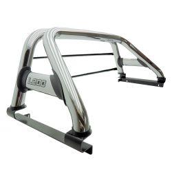 Santo antônio duplo cromado L200 Sport 2004 a 2007 ou L200 Outdoor 2007 a 2012 com barras de vidro