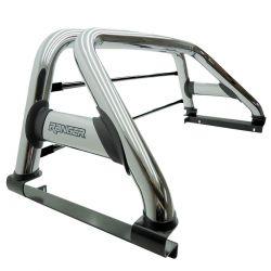 Santo antônio Track duplo cromado Nova Ranger 2013 a 2022 com barras de vidro inox