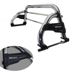 Santo antonio Solar Slim cromado Hilux 2005 a 2015 com barras de vidro