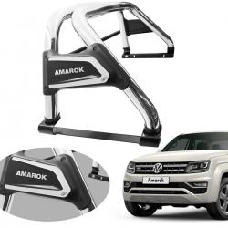 Santo antônio VF Duplo Premium cromado Amarok 2011 a 2021 com barra