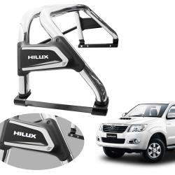 Santo antônio VF Duplo Premium cromado Hilux 2005 a 2015 com barra
