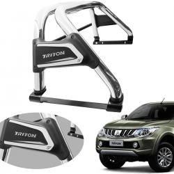 Santo antônio VF Duplo Premium cromado L200 Triton Sport 2017 a 2020 e L200 Triton Outdoor 2021 com barra