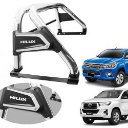 Santo antônio VF Duplo Premium cromado Nova Hilux 2016 a 2021 com barra