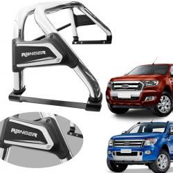 Santo antônio VF Duplo Premium cromado Nova Ranger 2013 a 2021 com barra