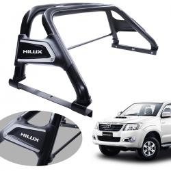 Santo antônio VF Duplo Premium preto Hilux 2005 a 2015 com barra