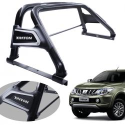Santo antônio VF Duplo Premium preto L200 Triton Sport 2017 a 2020 e L200 Triton Outdoor 2021 com barra