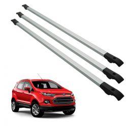Travessa rack de teto alumínio Ecosport 2013 a 2020 kit 3 peças