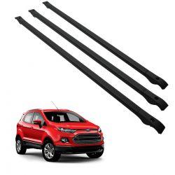 Travessa rack de teto alumínio preta Ecosport 2013 a 2020 kit 3 peças