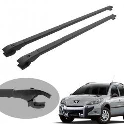 Travessa rack de teto alumínio preta Peugeot 206 SW 207 SW 207 Escapade