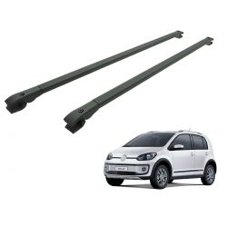 Travessa rack de teto alumínio preta UP! Cross VW up 2014 a 2018