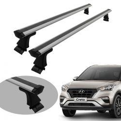 Travessa rack de teto Hyundai Creta 2017 a 2021 Bepo prata