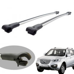 Travessa rack de teto larga alumínio Lifan X60 2013 a 2019
