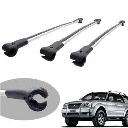 Travessa rack de teto larga alumínio Pajero Sport 2007 a 2011 kit 3 peças
