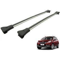 Travessa rack de teto larga alumínio Peugeot 2008 modelo 2016 a 2020