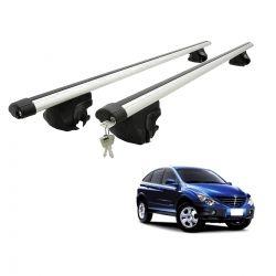 Travessa rack de teto larga com chave Actyon SUV 2007 a 2012