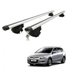Travessa rack de teto larga com chave I30 CW 2011 e 2012