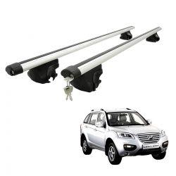 Travessa rack de teto larga com chave Lifan X60 2013 a 2017