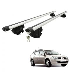 Travessa rack de teto larga com chave Megane Grand Tour 2007 a 2013