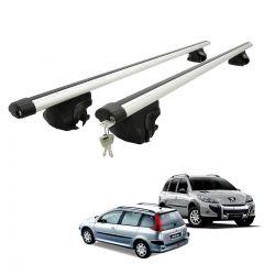 Travessa rack de teto larga com chave Peugeot 206 SW, 207 SW, 207 Escapade e 307 SW