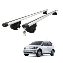 Travessa rack de teto larga com chave UP! Cross VW up 2014 a 2018