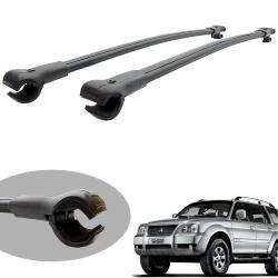 Travessa rack de teto larga preta alumínio Pajero Sport 2007 a 2011