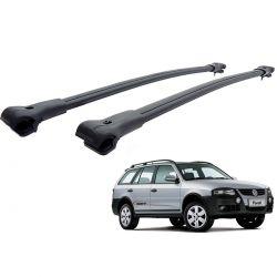 Travessa rack de teto larga preta alumínio Parati 1996 a 2012