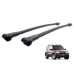 Travessa rack de teto larga preta alumínio Tracker 1999 a 2009