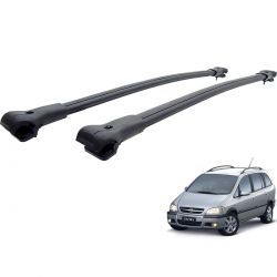 Travessa rack de teto larga preta alumínio Zafira 2001 a 2012
