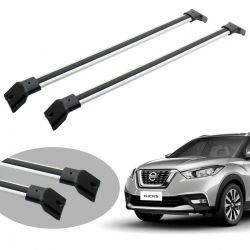 Travessa rack de teto Nissan Kicks 2017 2018 2019 2020 larga anodizada