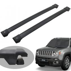 Travessa rack de teto Track preta Jeep Renegade 2016 a 2021