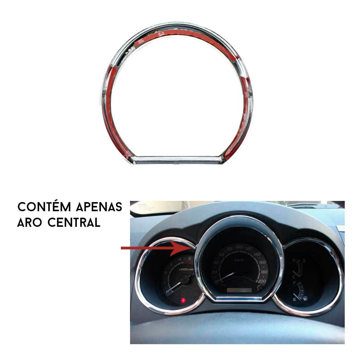 Aro painel central cromado Hilux ou SW4 2005 a 2011