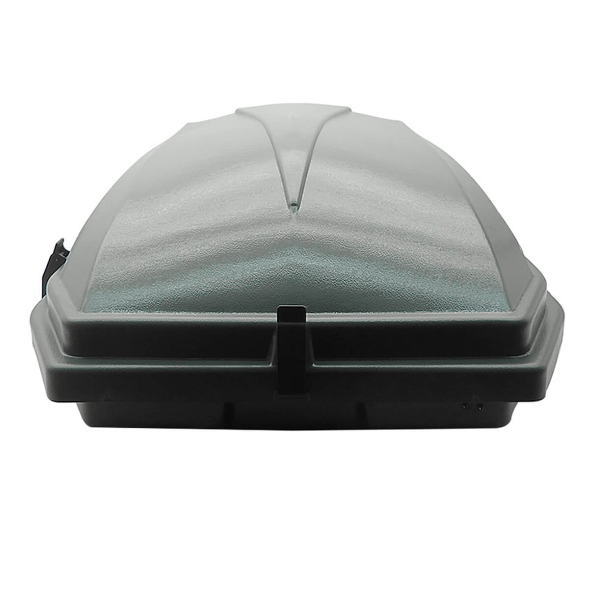 Bagageiro de teto maleiro com chave Motobul 270 litros cinza