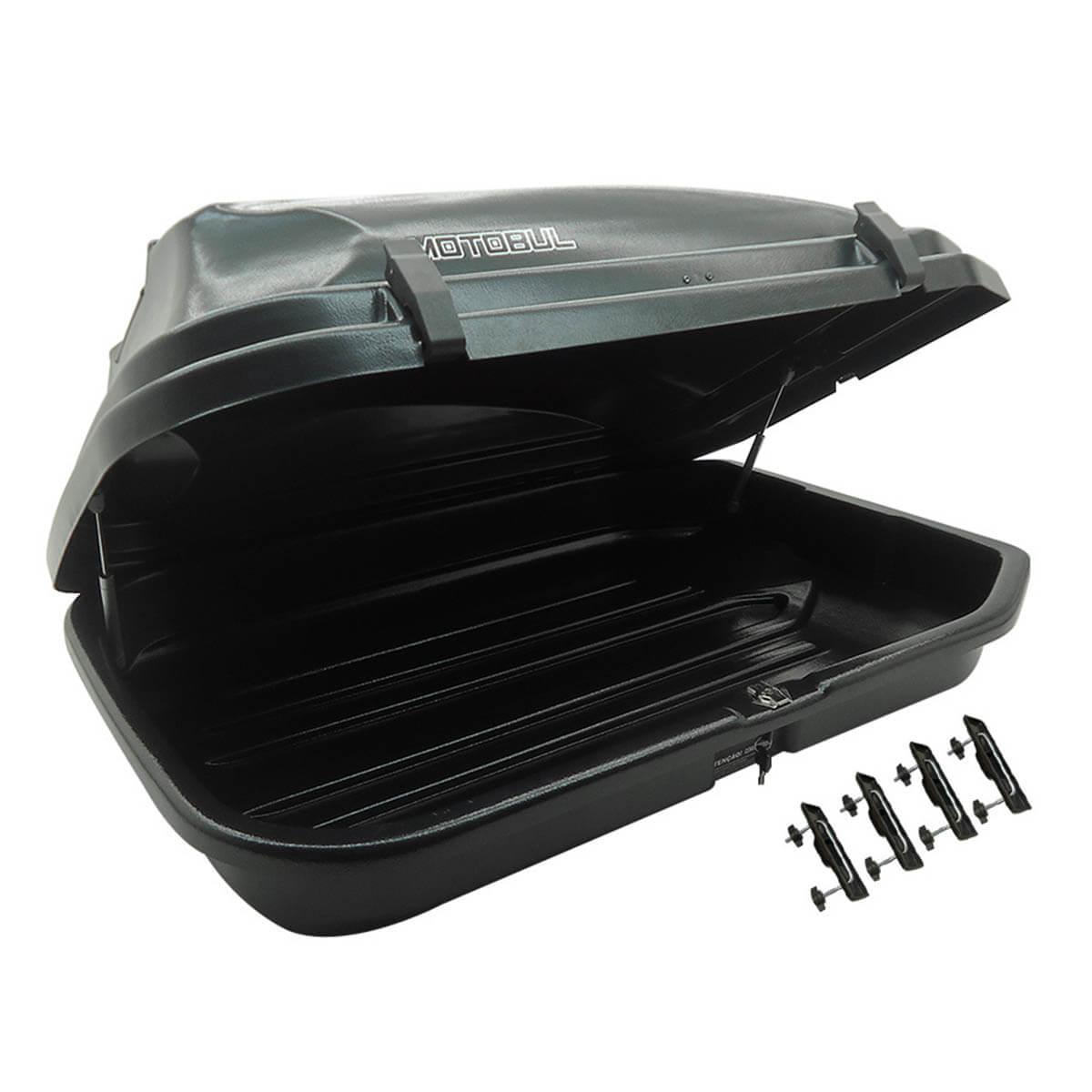 Bagageiro de teto maleiro com chave 270 litros preto