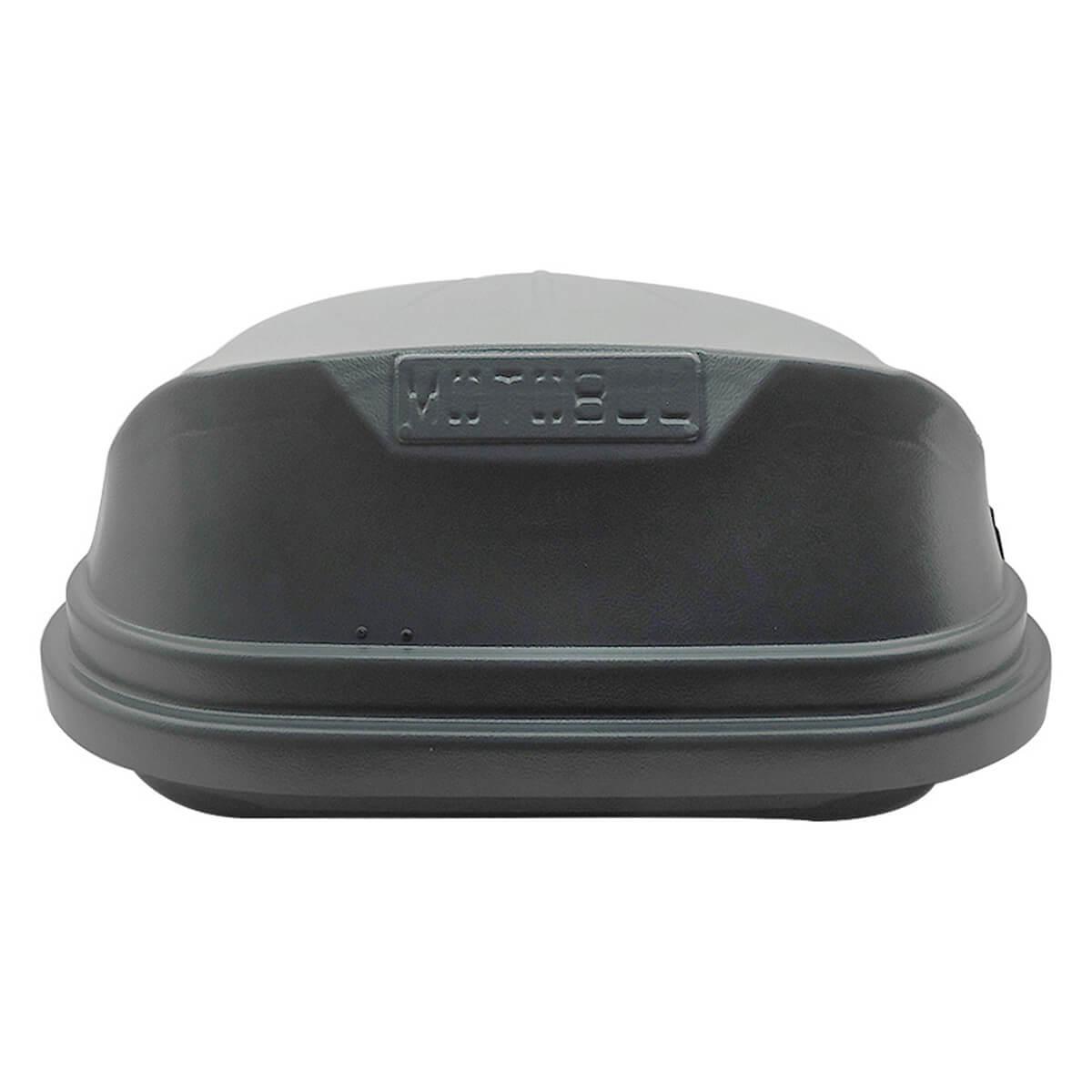 Bagageiro de teto maleiro com chave 350 litros cinza