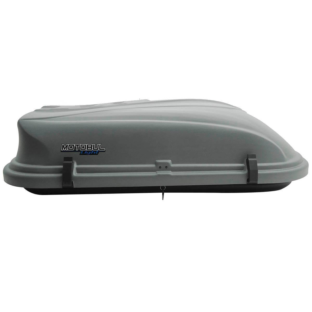 Bagageiro de teto maleiro com chave 380 litros cinza LIGHT