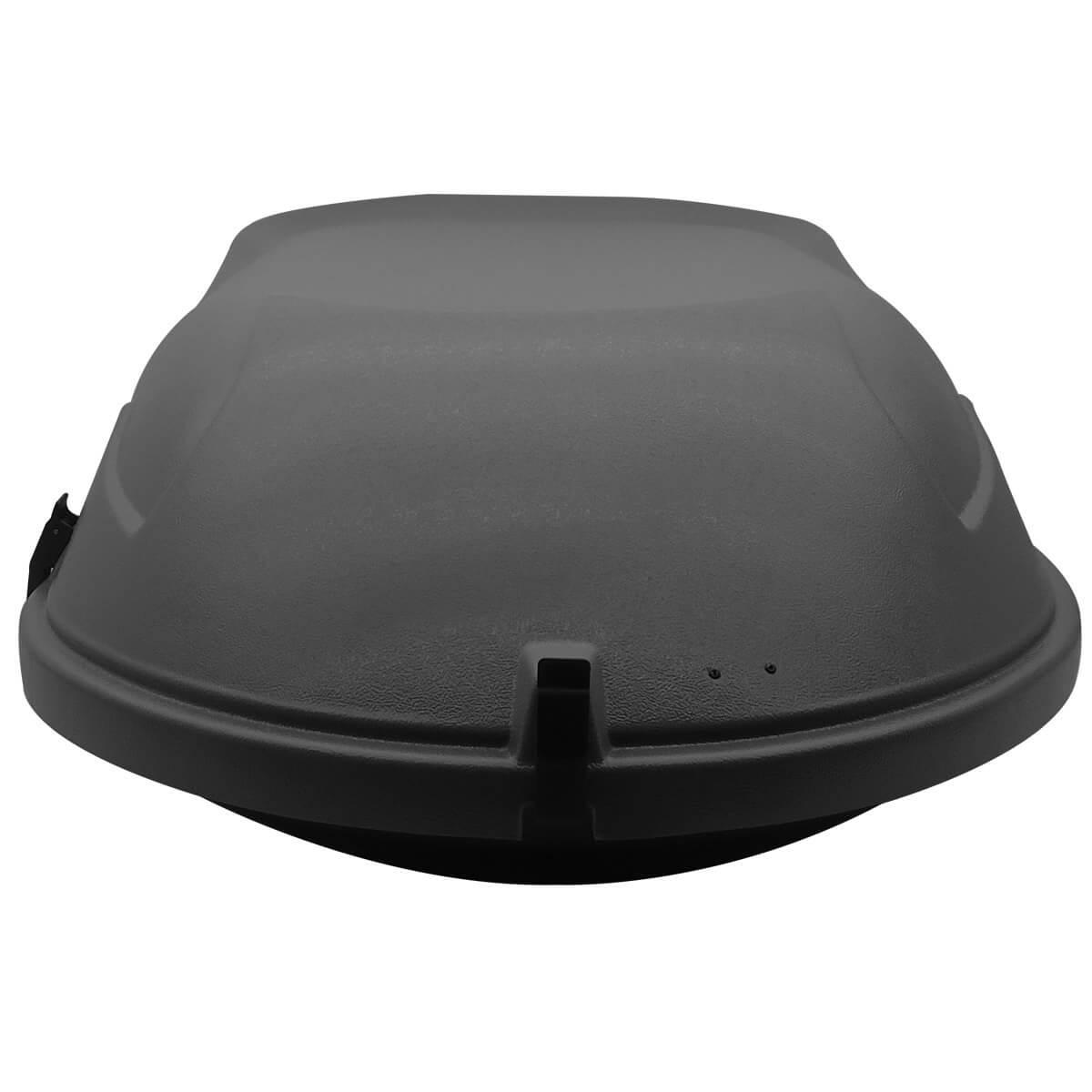 Bagageiro de teto maleiro com chave Motobul 400 litros cinza