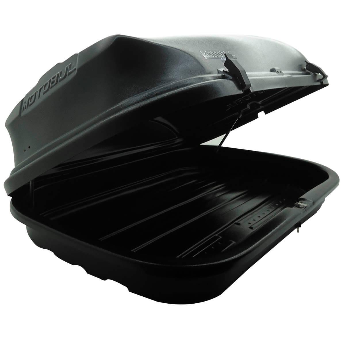 Bagageiro de teto maleiro com chave 460 litros preto LIGHT