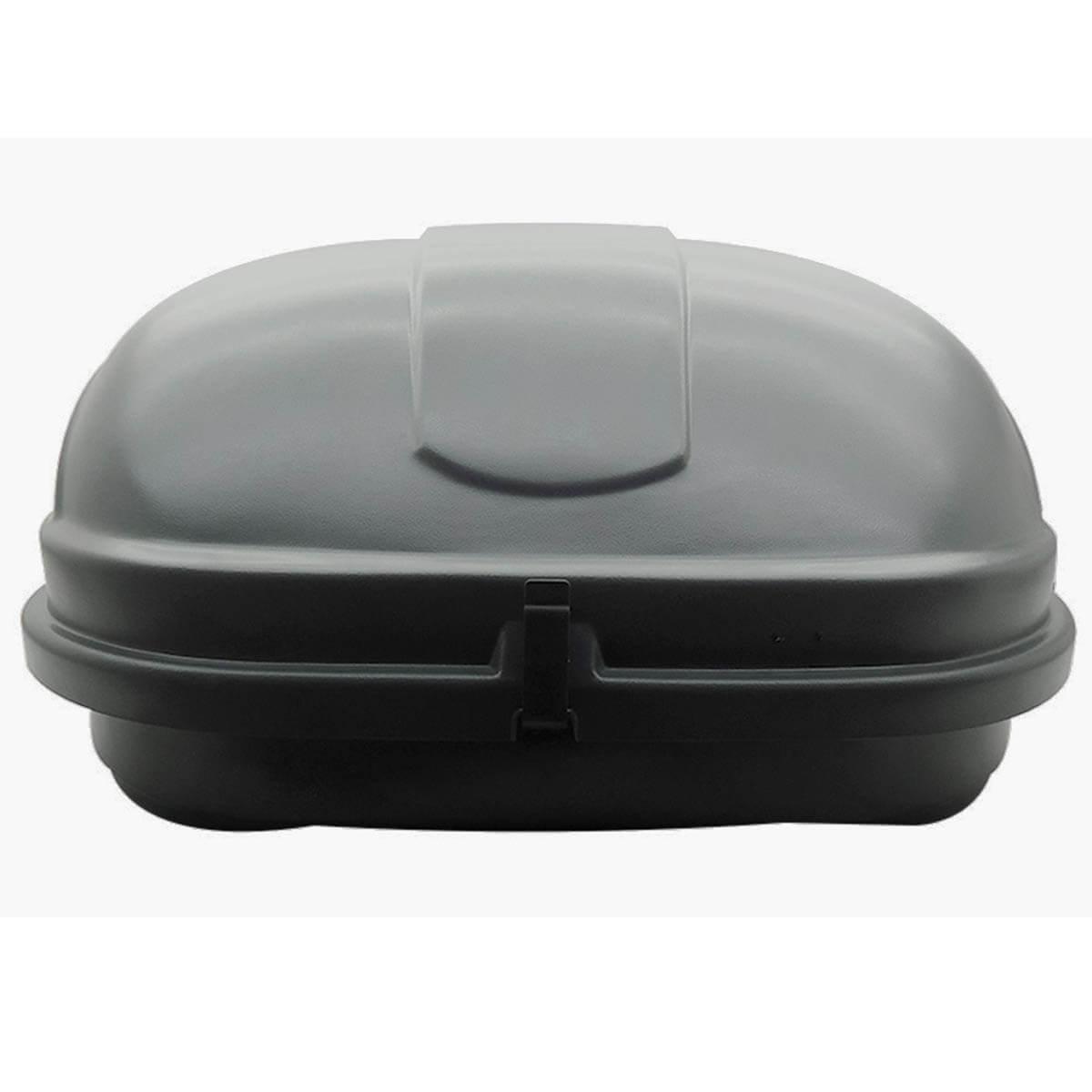 Bagageiro de teto maleiro com chave Motobul 600 litros cinza