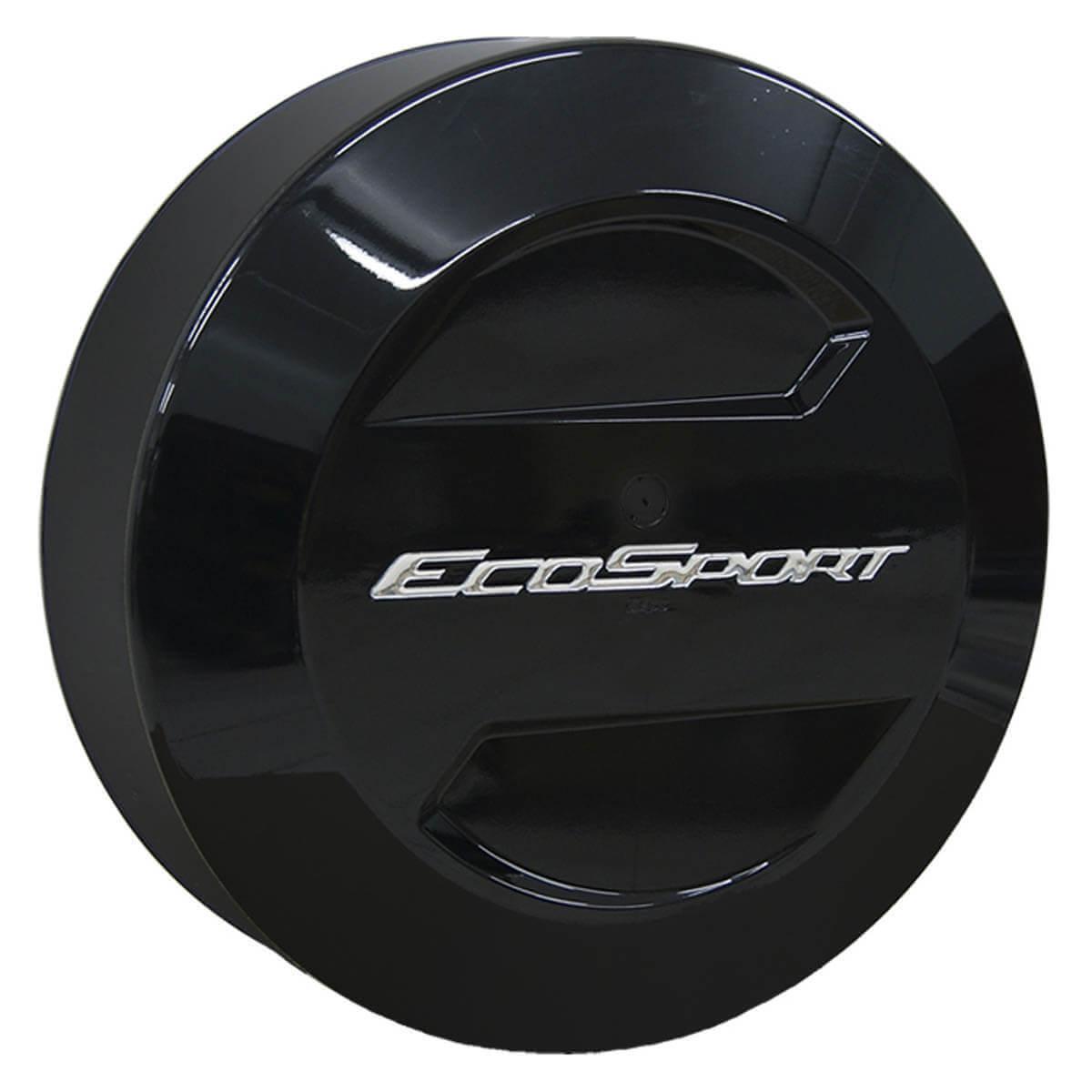 Capa de estepe Bepo rígida Ecosport 2003 a 2017 cor Preto Ebony