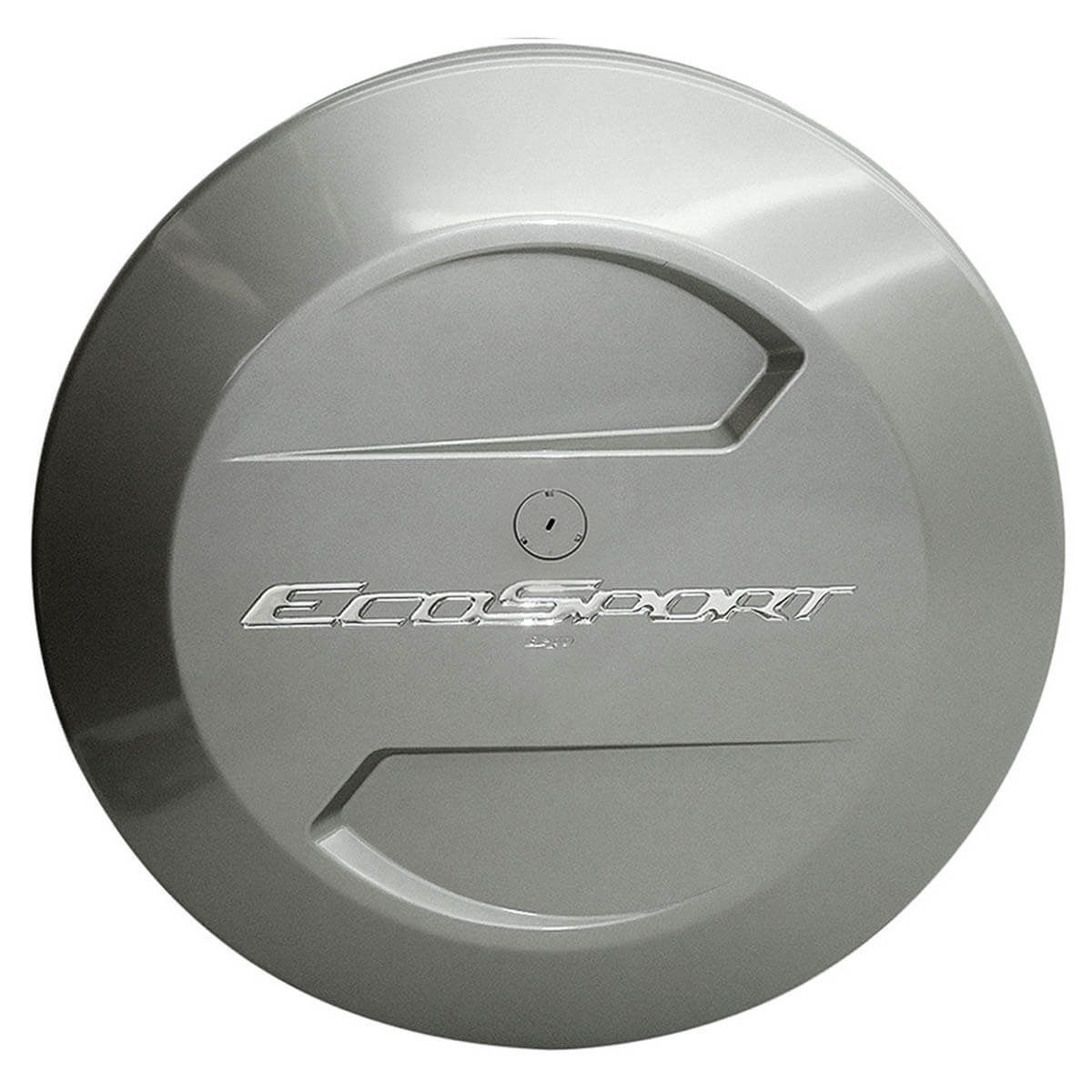 Capa de estepe Bepo rígida Ecosport 2010 a 2017 cor Prata Riviera
