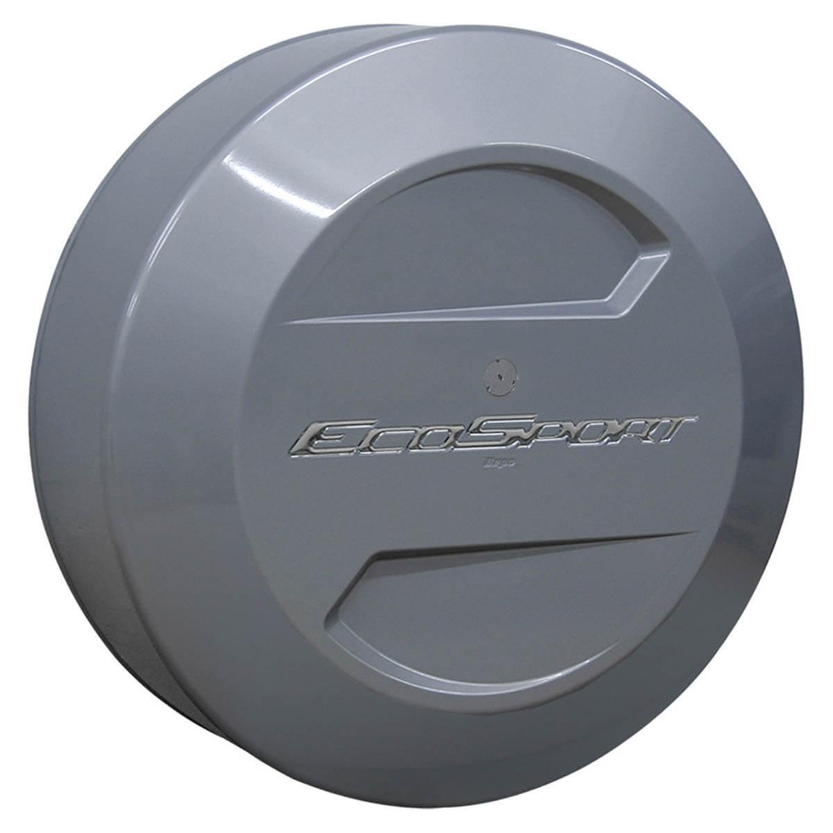 Capa de estepe Bepo rígida Ecosport 2013 2014 cor Prata Enseada