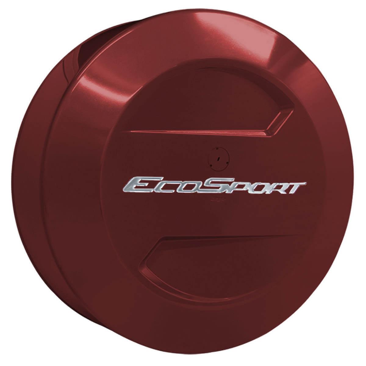 Capa de estepe Bepo rígida Ecosport 2015 2016 2017 cor Vermelho Merlot