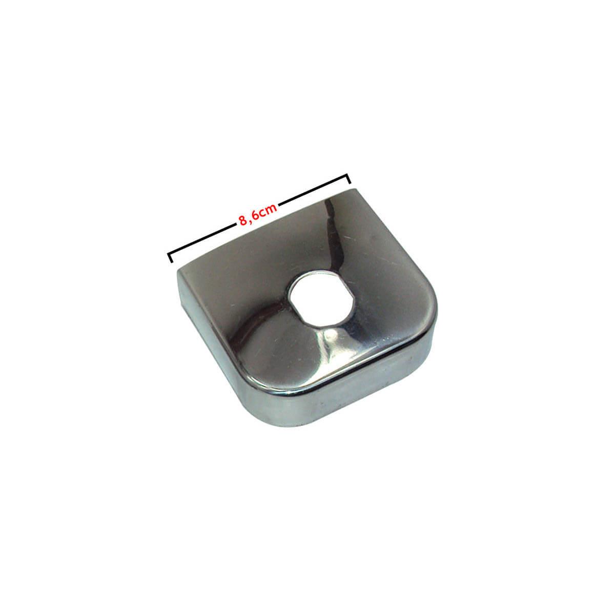 Capa inox para engate de reboque 8,6 cm de largura