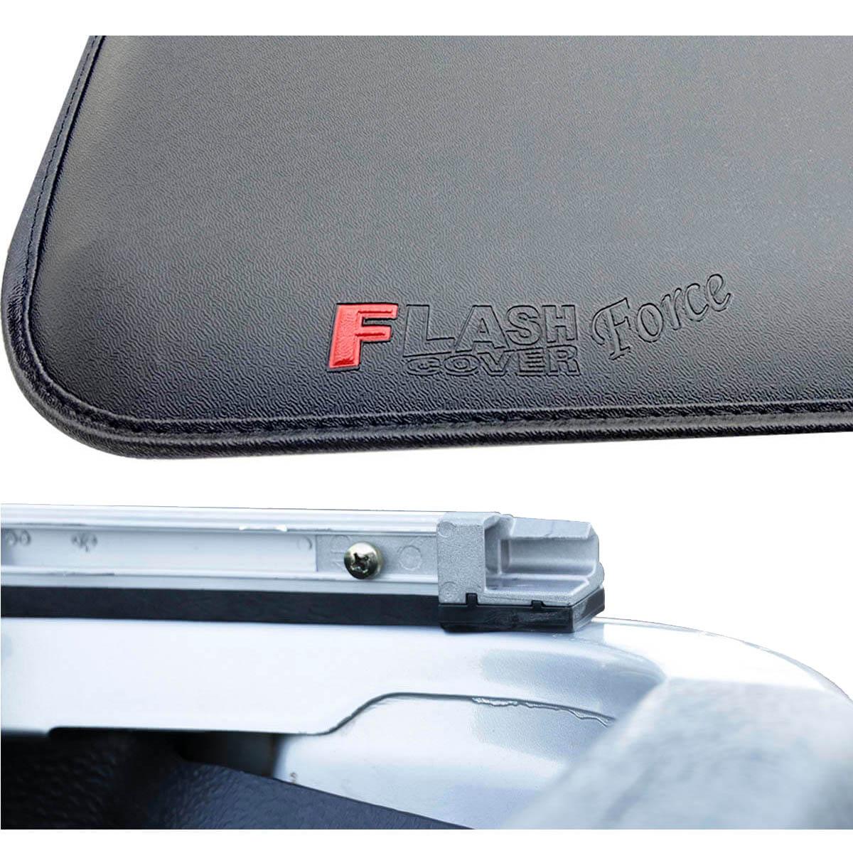 Capota marítima Flash force Strada cabine dupla 2009 a 2013 tirando os ganchos da caçamba