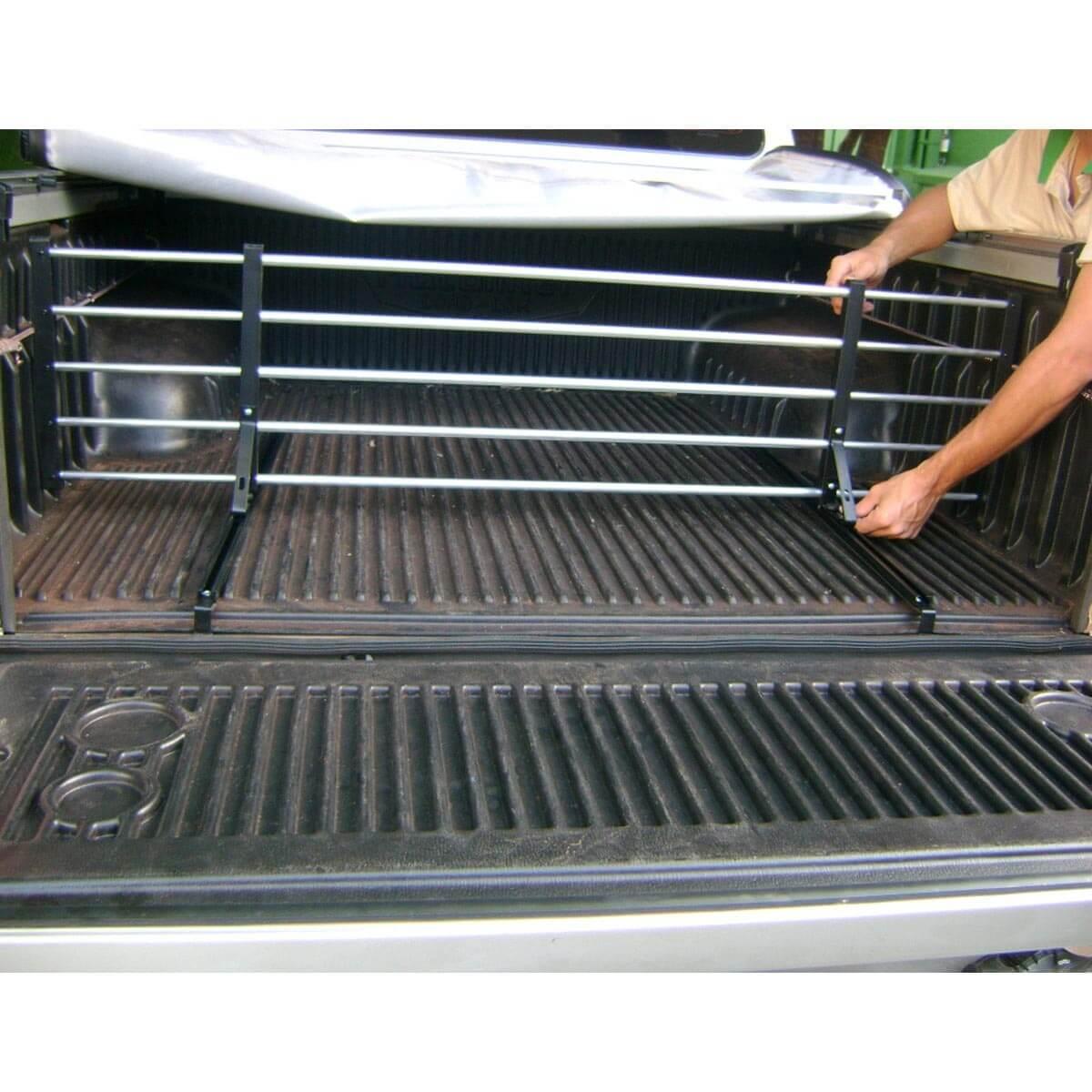 Divisor separador de cargas caçamba de pick ups uso universal