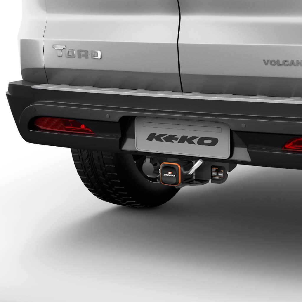 Engate de reboque removível Keko K1 Fiat Toro 2017 a 2021
