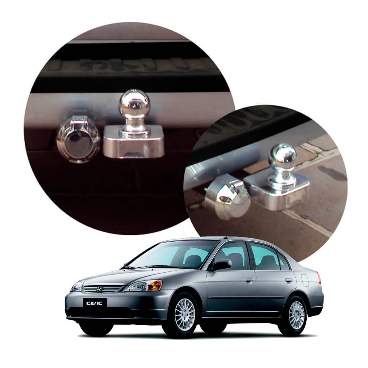 Engate de reboque fixo Civic 2001 a 2003