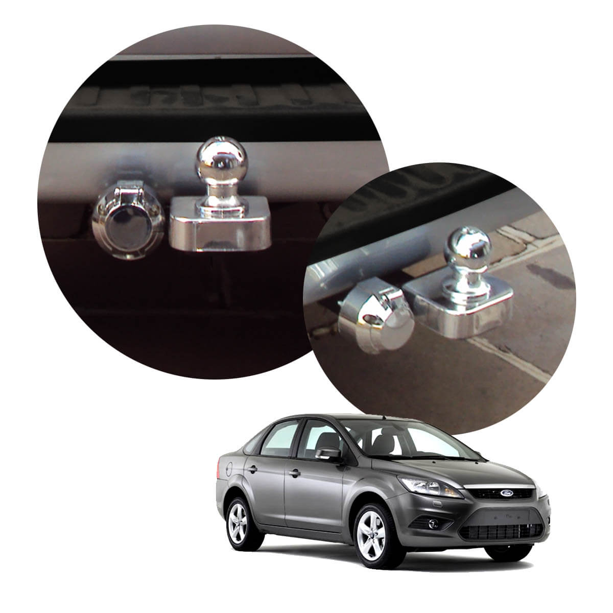 Engate de reboque fixo Focus sedan 2009 a 2013
