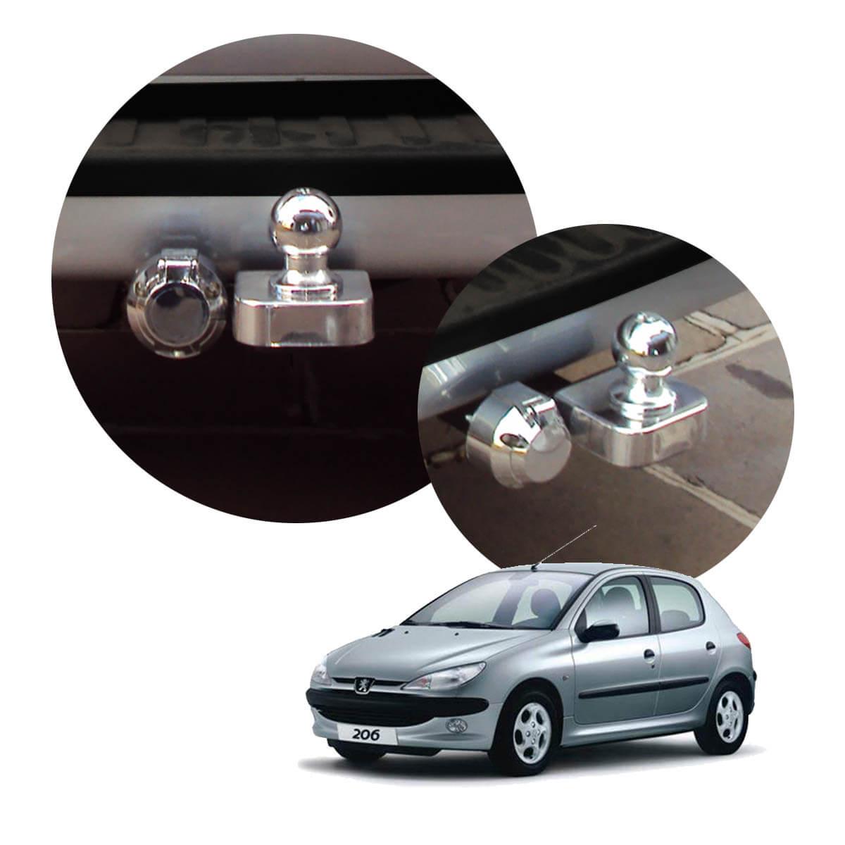 Engate de reboque fixo Peugeot 206 ou 207 hatch 1999 a 2015